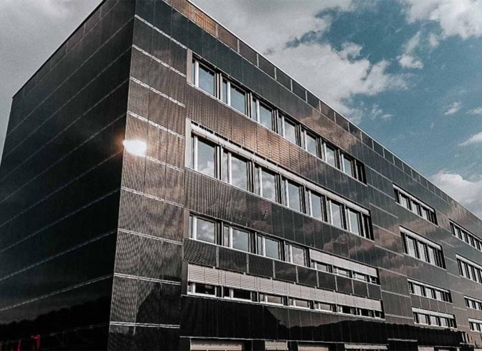 Saulės elektrinė kaip fasadas