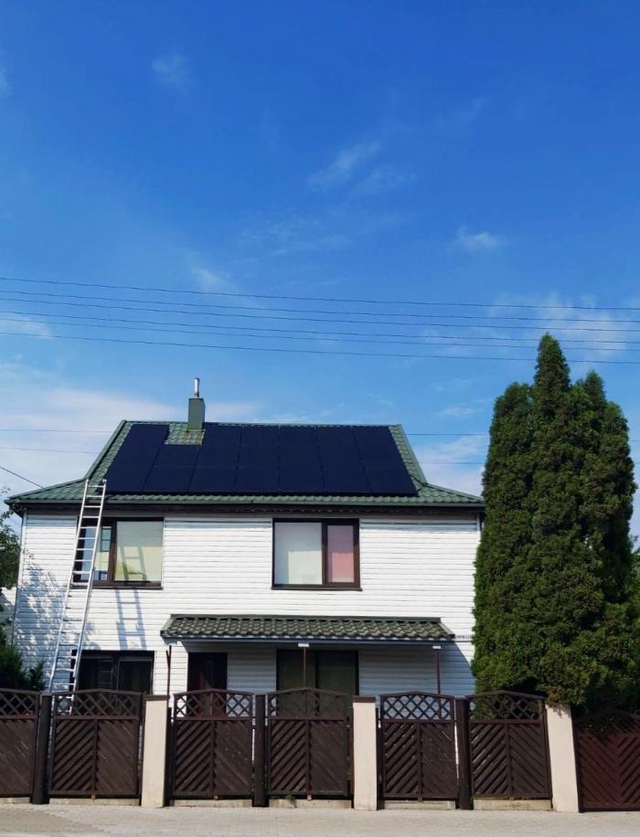 Saulės elektrinė iš saulės modulių gamintojo